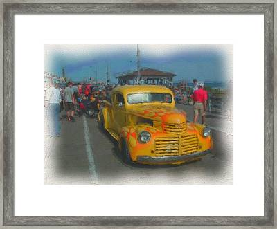 Ocean City Hot Rod Framed Print by Kevin  Sherf