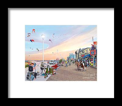 Busker Framed Prints