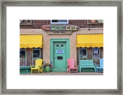 Ocean City N J Surf Cafe Framed Print