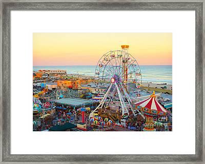 Ocean City New Jersey Boardwalk And Music Pier Framed Print