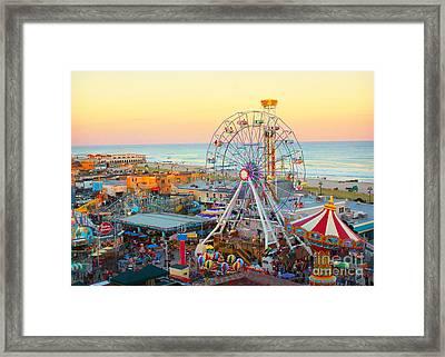 Ocean City New Jersey Boardwalk Framed Print