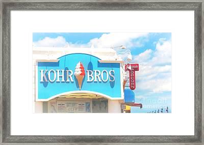 Ocean City Nj Kohr Bros Johnson Popcorn Framed Print