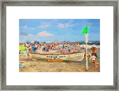 Ocean City Rescue Boat 2 Framed Print