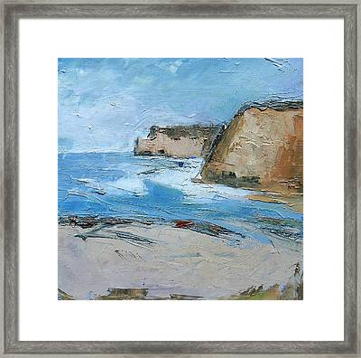 Framed Print featuring the painting Ocean Cliffs by Gary Coleman