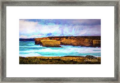 Framed Print featuring the photograph Ocean Cliffs by Perry Webster