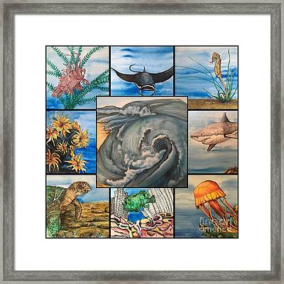 Ocean Collage #1 Framed Print