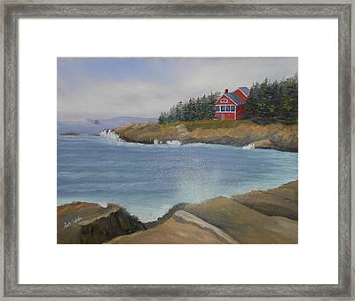 Ocean Cottage Framed Print