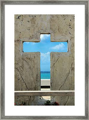 Ocean Cross Framed Print