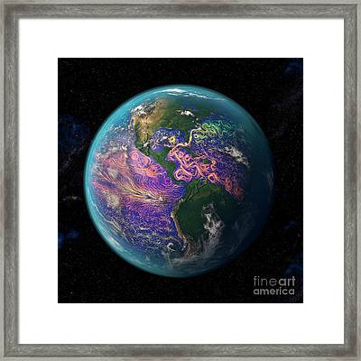 Ocean Currents Off The Americas Framed Print
