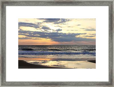 Ocean Dawn Framed Print by Mary Haber