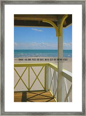 Ocean Dreaming Quote Framed Print