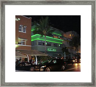 Ocean Drive Miami Beach Framed Print