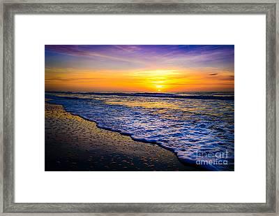 Ocean Drive Sunrise Framed Print