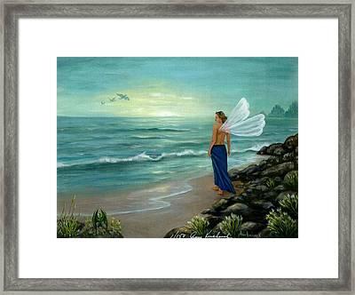 Ocean Fairy Framed Print