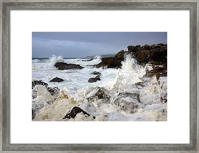 Ocean Foam Framed Print by Carlos Caetano