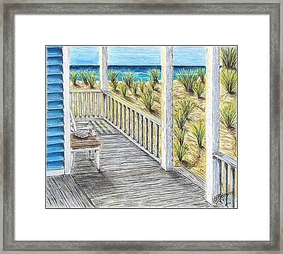 Ocean Front Framed Print by Chad Brittain