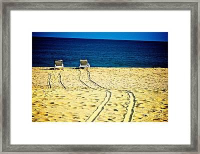 Ocean Front Row Framed Print by Matthew Keoki Miller