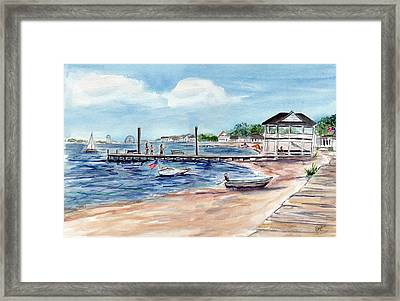 Ocean Gate Boardwalk Framed Print