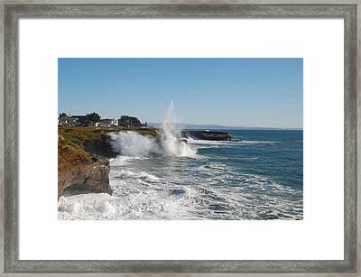 Ocean Geyser Framed Print