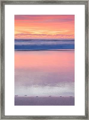Ocean Glow Framed Print