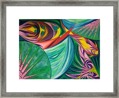 Ocean Graffiti Framed Print