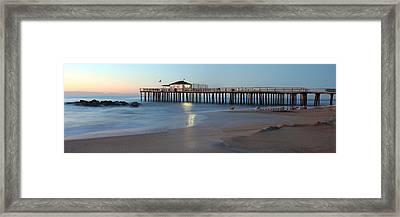 Ocean Grove Fishing Pier Framed Print by Jeff Bord