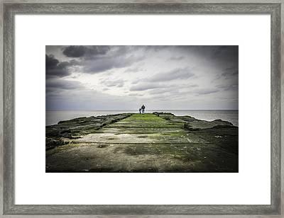 Ocean Grove Jetty Framed Print by Erin Cadigan