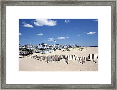 Ocean Grove Framed Print by Mary Haber