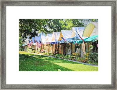 Ocean Grove Tents Sketch Framed Print