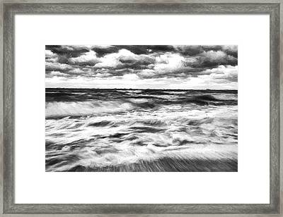 Ocean In Flux II Framed Print by Jon Glaser