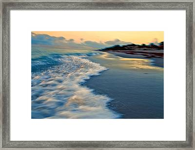 Ocean In Motion Framed Print by Dennis Baswell