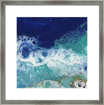 Framed Print featuring the painting Ocean by Jamie Frier