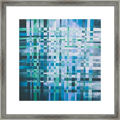 Framed Print featuring the mixed media Ocean by Jan Bickerton