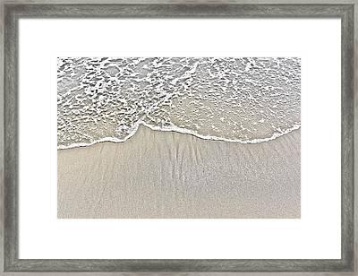 Ocean Lace Framed Print