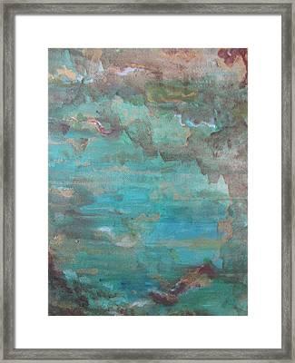 Ocean Framed Print by Lindie Racz
