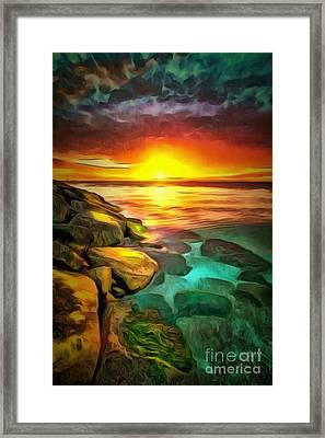 Ocean Lit In Ambiance Framed Print