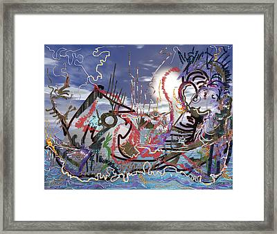 Ocean Framed Print by Marko Mitic