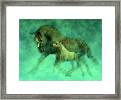 Ocean Mist Morning Framed Print