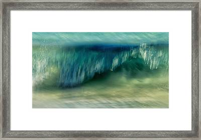 Ocean Motion Framed Print by Stelios Kleanthous