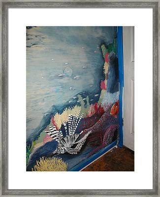 Ocean Mural Framed Print