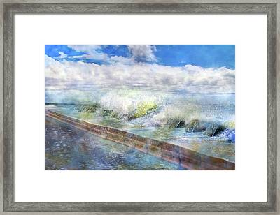 When Waves Tumble Framed Print