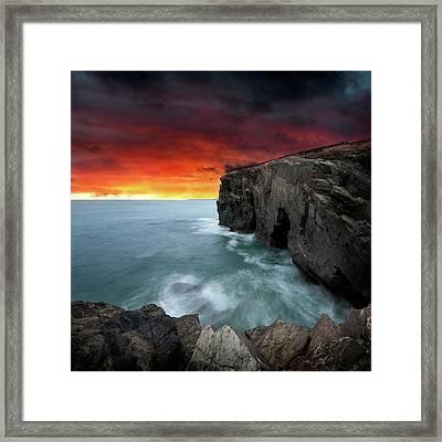 Ocean Of Light Framed Print by Ian David Soar