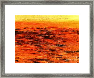 Ocean Of Weathered Thoughts Framed Print by Rick Maxwell