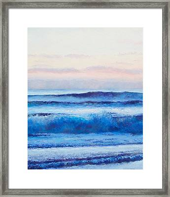 Ocean Painting - Ultramarine Blue Framed Print
