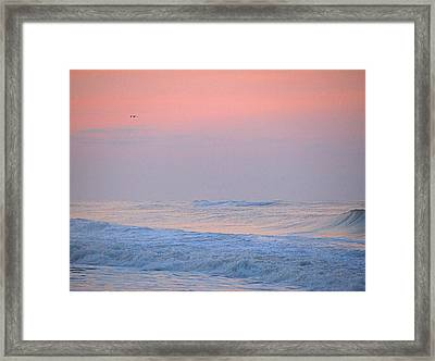 Framed Print featuring the photograph Ocean Peace by  Newwwman
