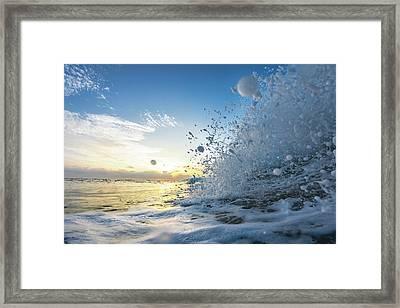 Ocean Pearls Framed Print by Sean Davey