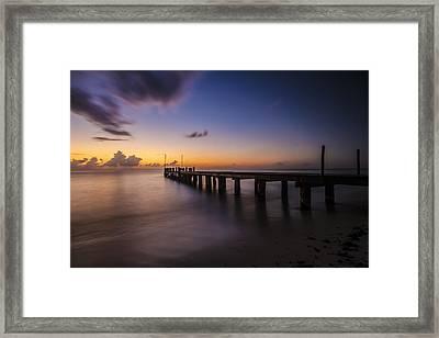 Ocean Pier At Dusk  Framed Print