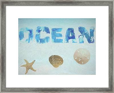 Ocean Postcard Framed Print