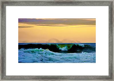 Ocean Power Framed Print