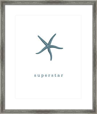 Ocean Quotes Superstar Framed Print by Erin Cadigan